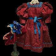 ~~~ Beautiful Original 19th. Century Antique Bebe Costume with Bonnet ~~~