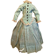 ~~~ Lovely Antique French Poupee Gown from 19th. Century ~~~~