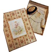 ~~~ Lovely Antique Jumeau Size 1 Bebe Outfit in Box ~~~
