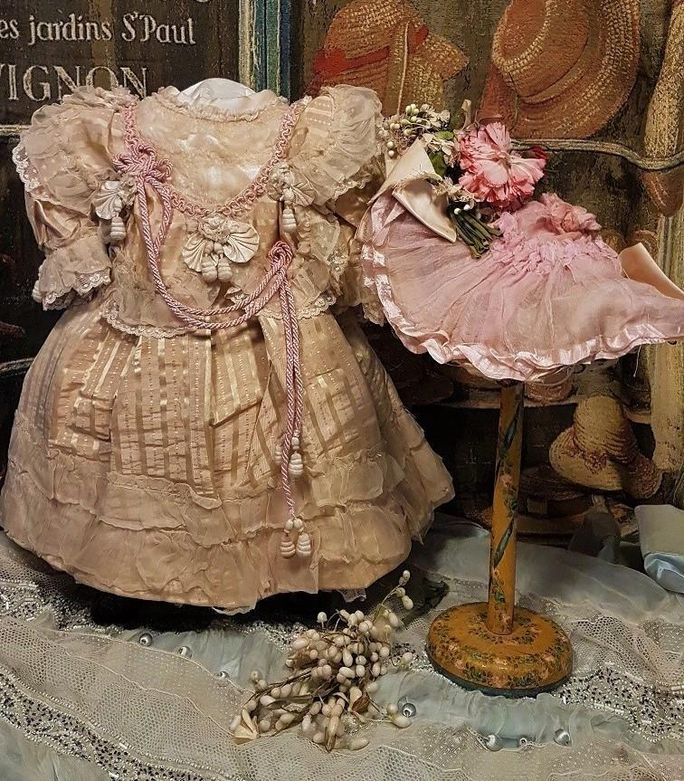~~~ Outstanding French Bebe Silk Costume with Couture Hat ~~~