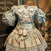 ~~~ Outstanding French Silk one of a Kind Costume ~~~