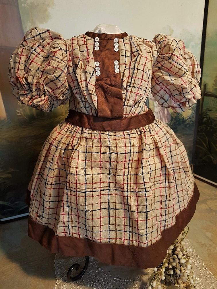 ~~~Pretty Antique French Bebe Wool Dress for Jumeau , Steiner ...... ~~~