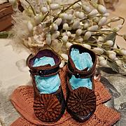 ~~~ Early Antique EJ mark Emile Jumeau Bebe Shoes with Stocking ~~~