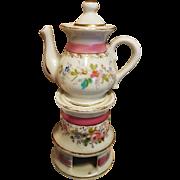 "~~~ Pretty French Miniature Porcelain - De - Paris "" Tisaniere "" for French Poupee ~~~"