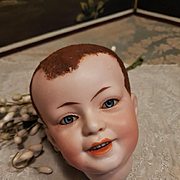 ~~~ Lovely French Rare Character Bisque Head  ~ 227 ~ by SFBJ As Is ~~~