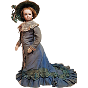~~~  Beautiful French Poupee By Jumeau with Gorgeous Antique Costume ~~~
