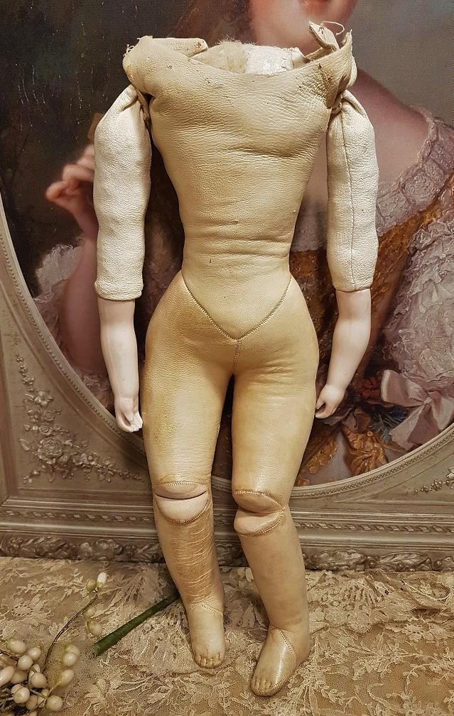 ~~~ Lovely Antique Poupee Kid Body with Bisque Arms ~~~