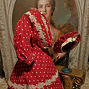 ~~~ Lovely Antique Huret or Rohmer Poupee Costume  / 1870 ~~~