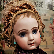 ~~~ Beautiful French EJ. Bisque Bebe from Maison Emile Jumeau ~~~