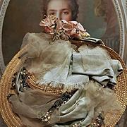 ~~~ Lovely Antique French Dolls Straw Bonnet / circa 1890 ~~~