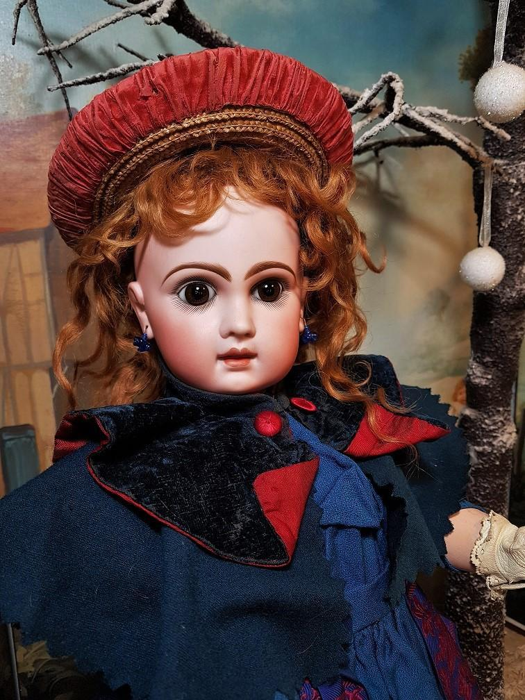 ~~~ Amazing French Bisque BeBe Jumeau Size 10 in Original Costume ~~~
