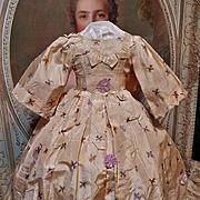 ~~~ Lovely Enfantin Silk Poupee Dress for Huret , Rohmer , Barrois ..... ~~~