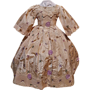 ~~~ Lovely Enfantin Silk Poupee Dress for Huret , Rohmer , Barrois ..... ~~~