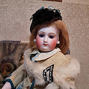 ~~~ Outstanding French Wood Body Bisque Poupee ~~~