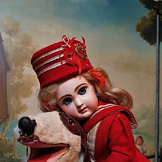 """~~~ Rare 11"""" Size 3 Mademoiselle Jumeau in Cute Antique Clothing ~~~"""