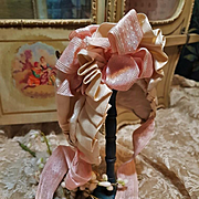 ~~~ Superb French Antique Silk Bonnet / circa 1880 Mint Condition ~~~