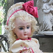 ~~~ Superb and Elegant Antique Bebe Costume with matching Bonnet ~~~