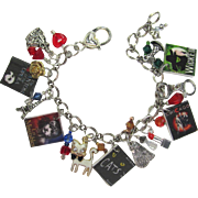 Broadway Musicals Charm Bracelet with Tiny Posters and Unique Charms – Matching Earrings