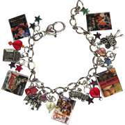 Classic Movies Charm Bracelet with Movie Charms - Tiny Movie Posters – Swarovski Crystals