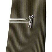 Vintage Tie Bar with Golfer Swinging a Club