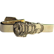 Vintage Turbofan Jet Engine Tie Clip by Balfour