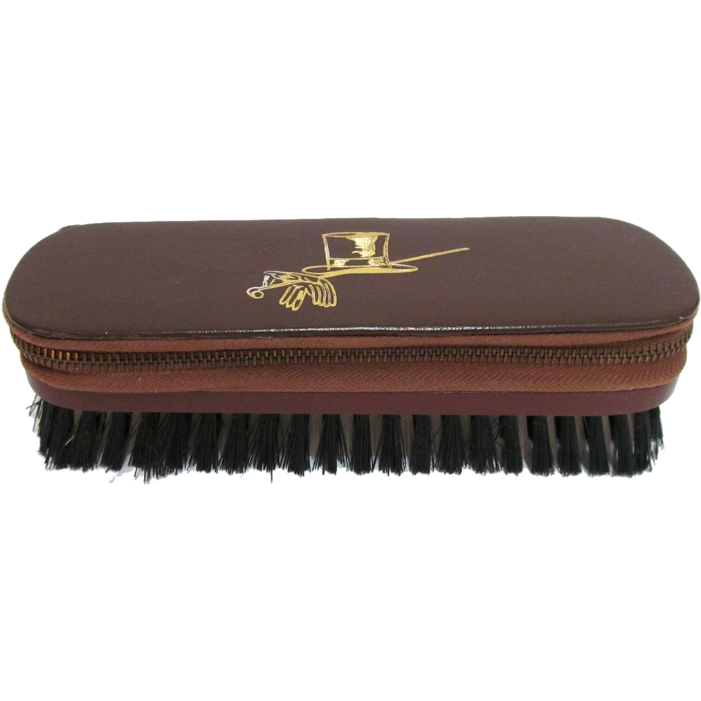 Mens Vintage Leather Travel Vanity Grooming Kit With