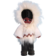 Vintage 1950's Alaska Kewpie Doll with Sleep Eyes – Leather Boots – White Parka
