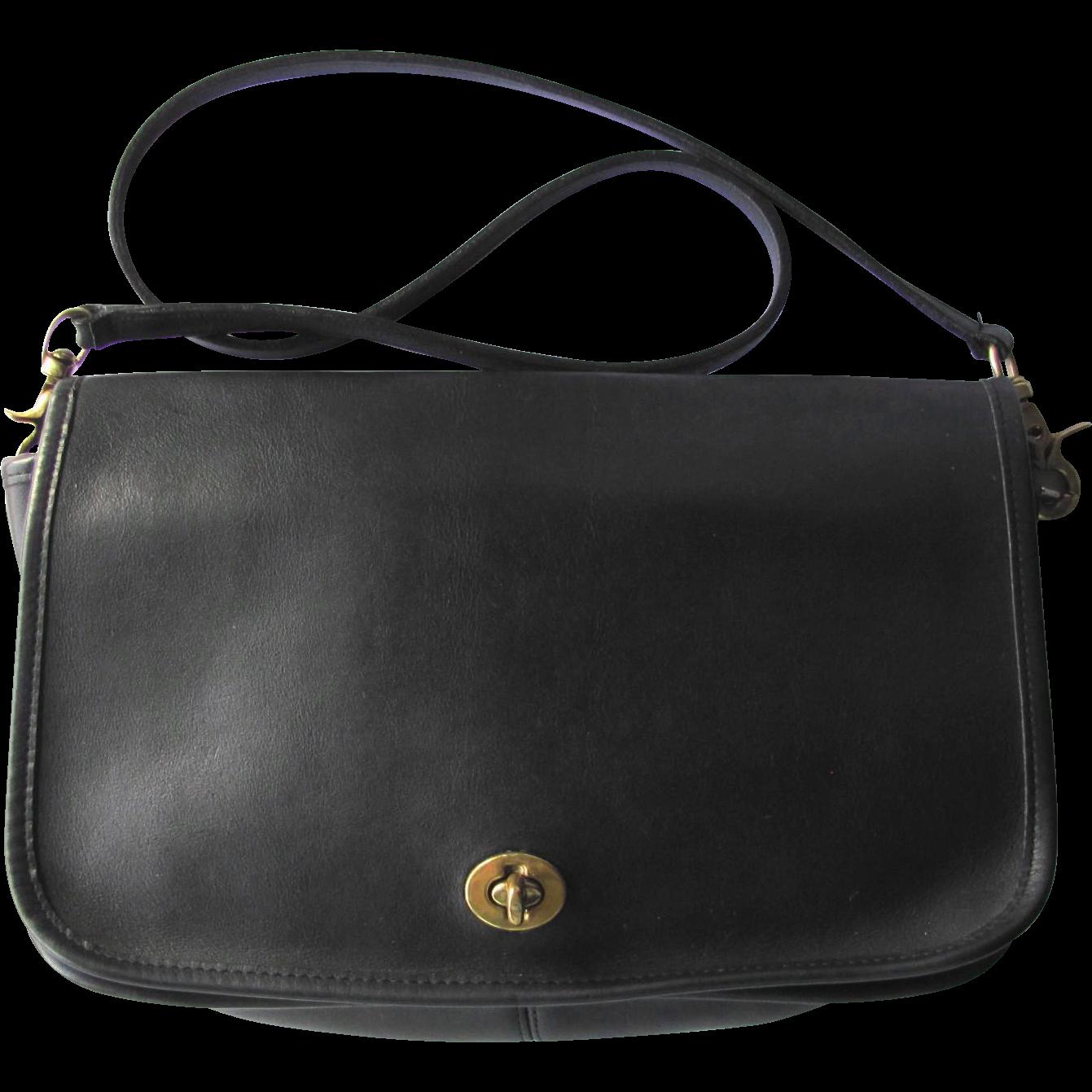 Vintage Coach Black Leather Saddle Bag – New York City Bag ... Saddle Bag