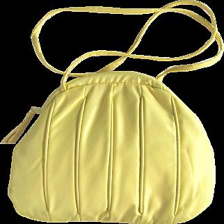 Vintage 1960's Yellow Marshmallow Cross-Body Handbag