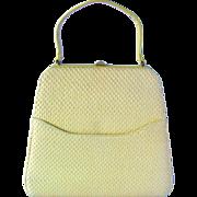 Vintage 1950's Handbag in Daffodil Colored Raffia by MM Morris Moskowitz