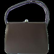 Vintage 1950's Handbag in Chocolate Brown by Theodor of California
