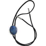 Bolo Tie with Lapis Lazuli Cabochon in Fancy Filigree Slider