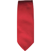 Vintage Red Twill Tie in Lipstick Red Color