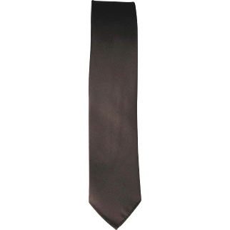 Vintage 1960's Skinny Wembley Tie in Dark Brown Twill