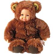 Vintage Baby Doll in Brown Teddy Bear Costume by Anne Geddes