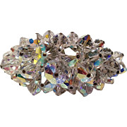 Vintage Crystal Pin With Outstanding Sparkle AB Color