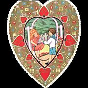 Vintage Valentine Witney Made Boy and Girl Heart To My Valentine