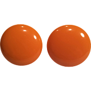 Vintage Bakelite Butterscotch Screw back Earrings