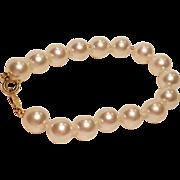 Vintage Napier Large Faux Pearl Bracelet