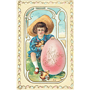 Vintage Easter Postcard Kind Easter Wishes E. Nash 1910
