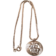 Chinese Good Luck Sterling Silver Pendant and 15 inch Chain