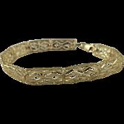 "Elegant Diamond Cut 10k Yellow Gold Bracelet, 7 1/2"" Long-5.2 Grams."