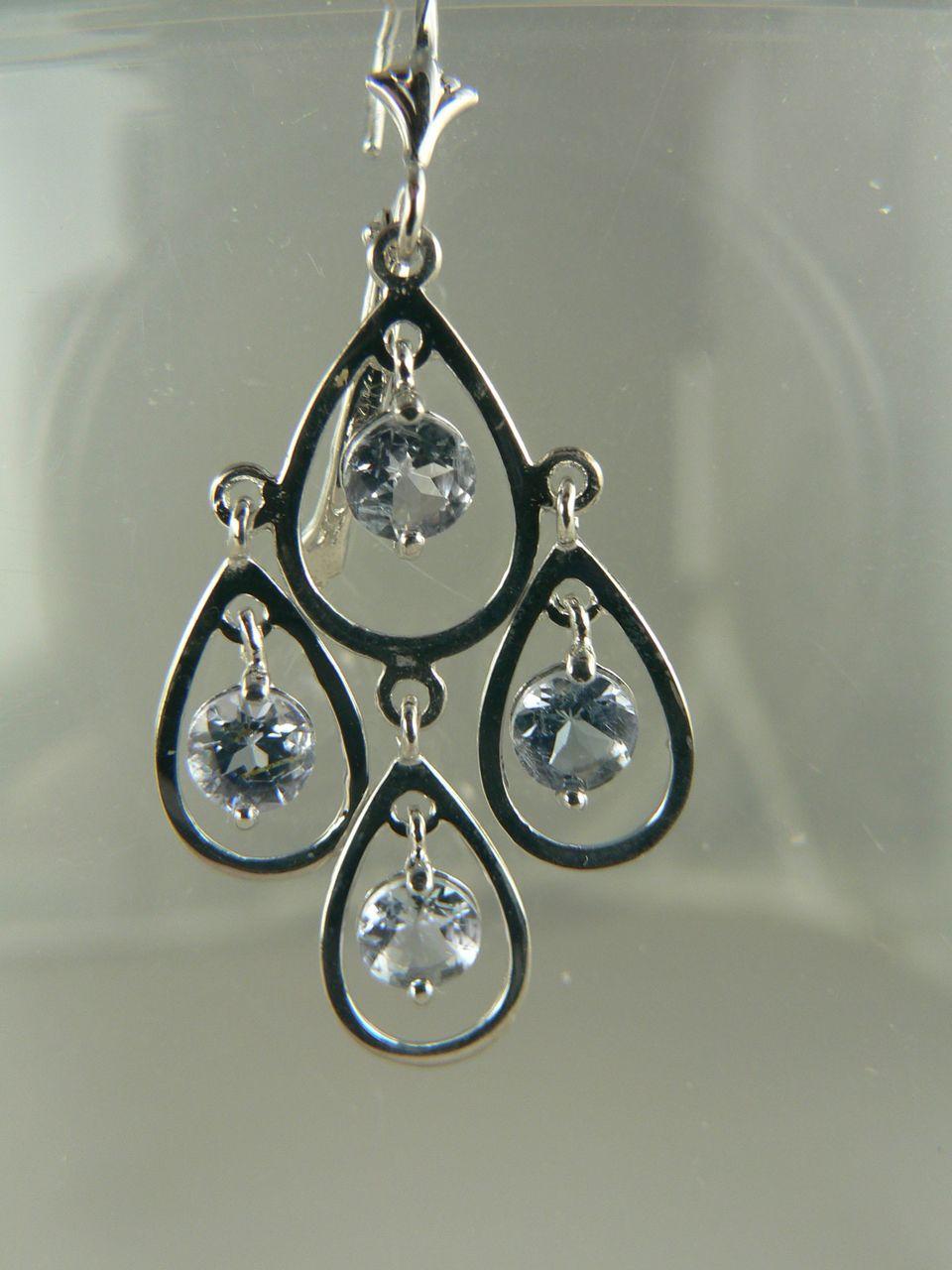 Sensational 14k Tanzanite Earrings Pierced From Whiteoaks