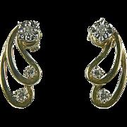 1/4 CWT Diamond, Stud Earrings and Jackets.