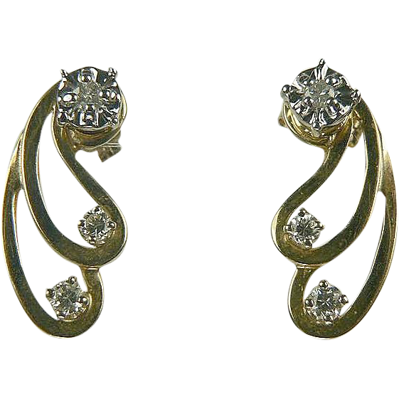 1/4 CWT Diamond, Stud Earrings and Jackets.