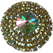 Iridescent Weiss Circle Brooch.