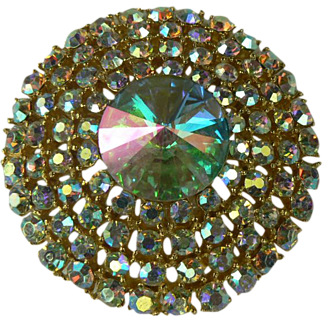 Iridescent Weiss Circle Brooch.