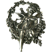 Cupid Pin/Pendant Crafted in Sterling Silver.