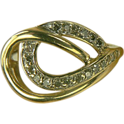 Infinity Diamond Ring-10k-Size 7 1/2.