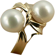 Elegant 7mm Freshwater Cultured Pearl Ring~14k~Size 7.